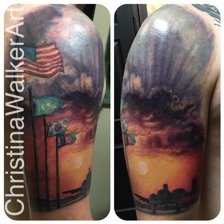 Tattoos - Military Half Sleeve - 129666