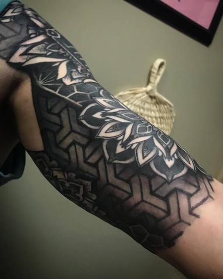 Tattoos - Underarm view of a finished half sleeve - 134259