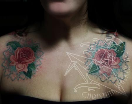 Christina Walker - Roses on Chest