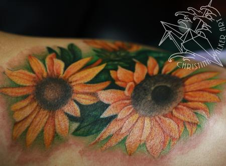 Tattoos - Wild Sunflowers - 74649