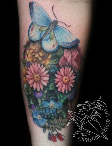 Tattoos - Floral Skull - 75202