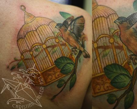 Tattoos - Birdcage and Bird - 79943