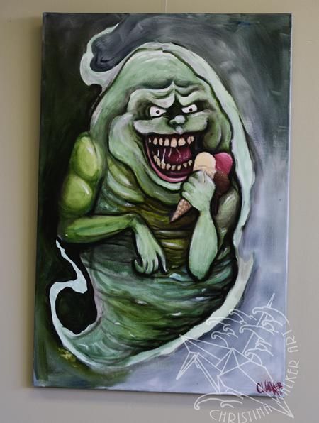 Tattoos - Slimer original oil - 79942