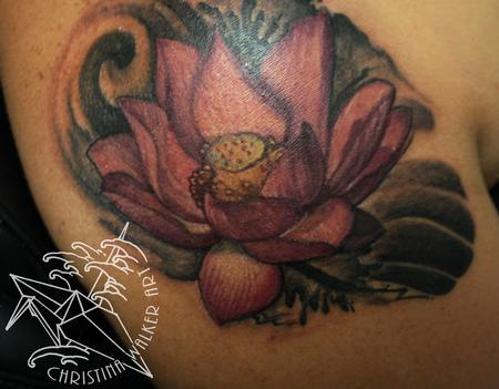 Tattoos - Watercolor Lotus - 94524