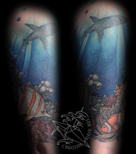 Tattoos - Ocean Half Sleeve - 77778