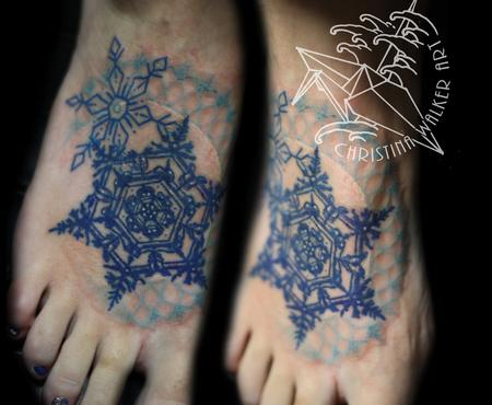 Tattoos - Filigree Snowflakes  - 70942