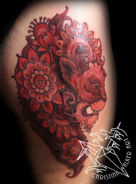 Tattoos - Ornate Lion - 75903