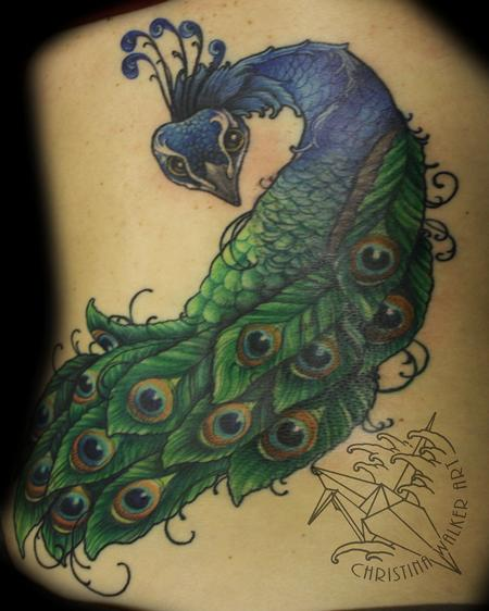 Tattoos - Peacock Backpiece - 88731