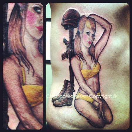 Tattoos - In Progress Pin up Memorial - 68894