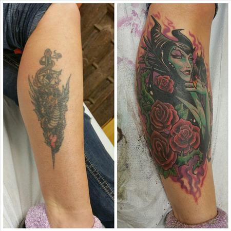 Tattoos - maleficent cover up - 101531