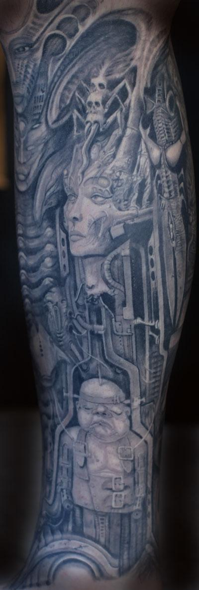 Tattoos - Giger Tattoo - 89507