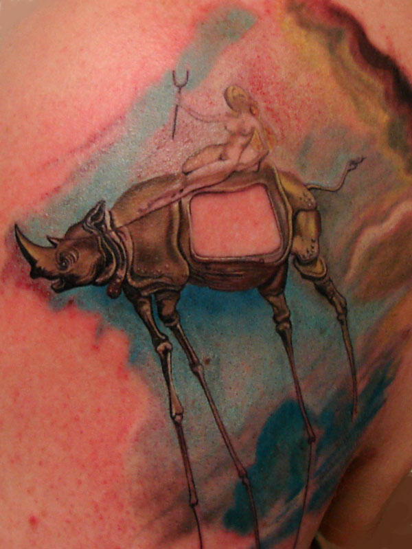 salvador dali color painting replication by christopher allen tattoonow. Black Bedroom Furniture Sets. Home Design Ideas