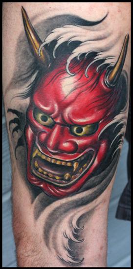Tattoo Convention : Tattoos : Traditional Japanese Hanya : Red Hanya