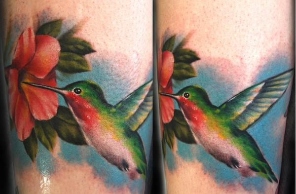 Cory Norris Hummingbird Tattoo