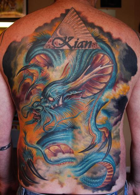 Cory Norris - dragon backpiece