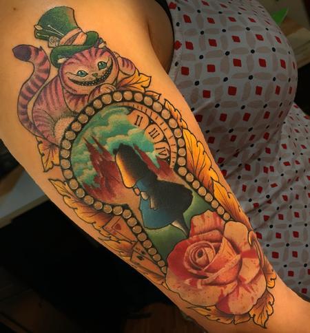 Tattoos - ALICE IN WONDERLAND HALFSLEEVE - 132339