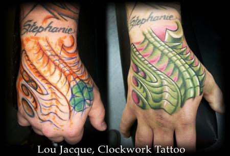 Tattoos Biomech Hand Cover-up