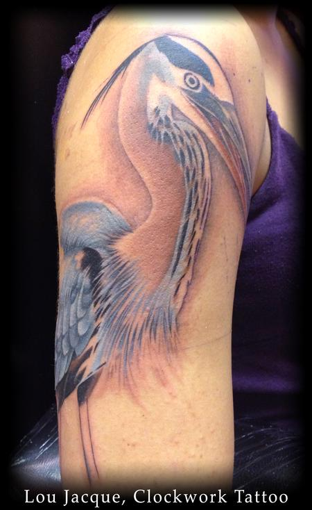 Tattoos Great blue heron