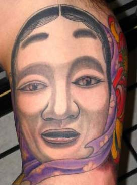 Tattoos - Face and Flower - 31824