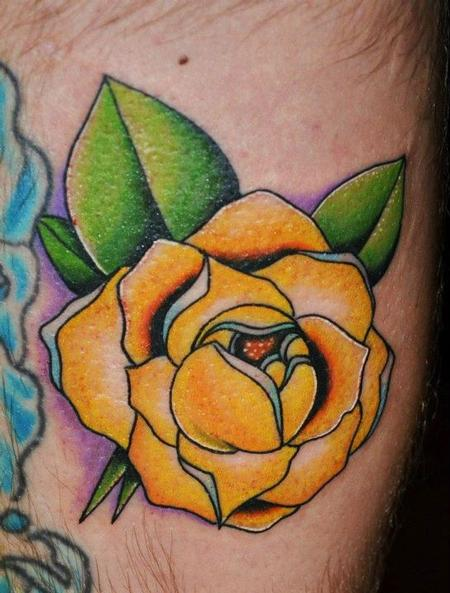 Yellow rose tattoos for Yellow rose tattoo