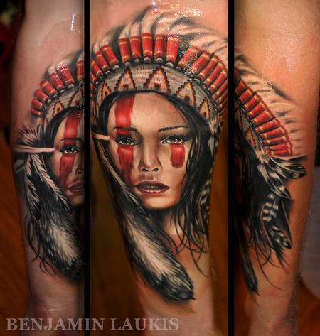 - Worlds Best Tattoos : Tattoos : Benjamin Laukis : Apache girl