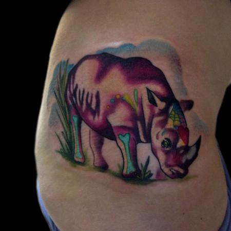 Tattoos - day of the dead rhino - 84120