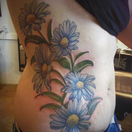 Tattoos - daisy flower color tattoo - 84483