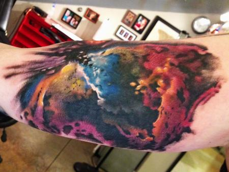 Tattoos - color galaxy tattoo - 84484