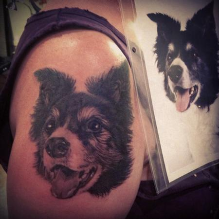 D'Lacie - dog portrait tattoo