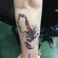 Tattoos - Red Scorpion - 131634