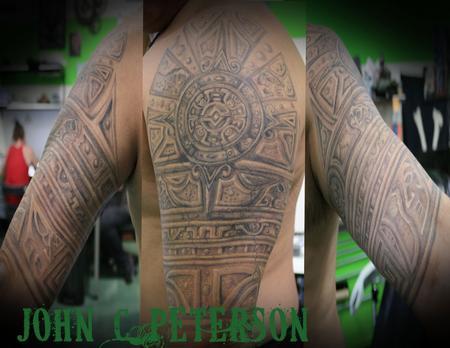 John C Peterson - Aztec_Stone_half_sleeve_John_C_Peterson