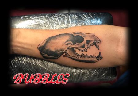Tattoos - Mongoose_skull_tattoobyBubbles - 132554