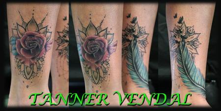 Tattoos - CoverUp_Rose_Rework_of_Feather_ByTannerVendal - 132898