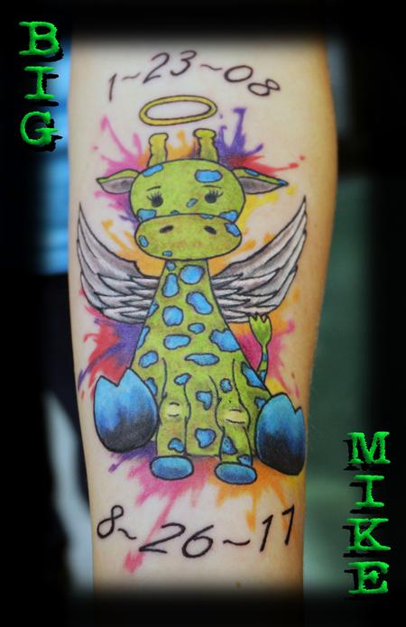 Tattoos - Child's Giraffe Angel Tattoo - 129882