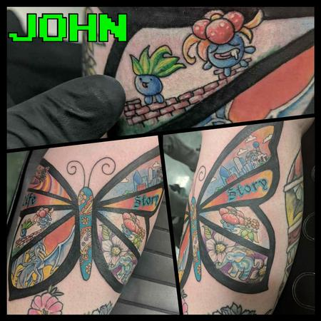 Tattoos - Story Butterfly with Pokemon by John - 132961