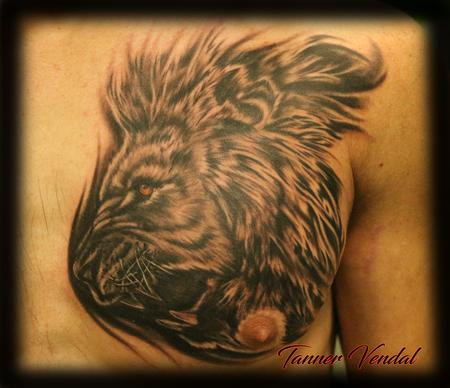 Tattoos - Lion_Chest_Piece_Tanner - 128978