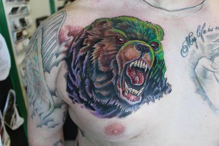 Tattoos - Bear Cover up - 128161