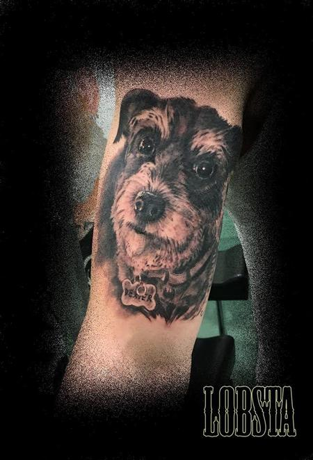 Tattoos - Dog Portrait - 128162