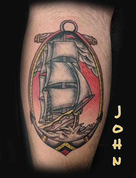 Tattoos - Pirate Ship by John  - 132937