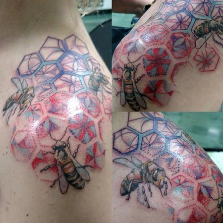Tattoos - Bees & Geometry - 126507