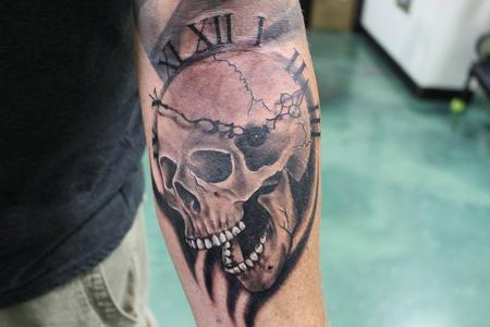 Tattoos - Skull Clock - 126514