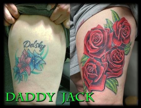 Tattoos - CoverUp_Roses_Jack - 133599