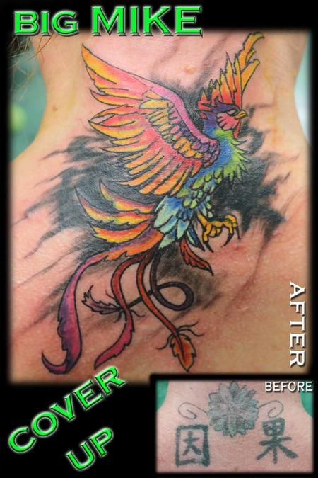 Tattoos - Phoenix Cover Up - 130867