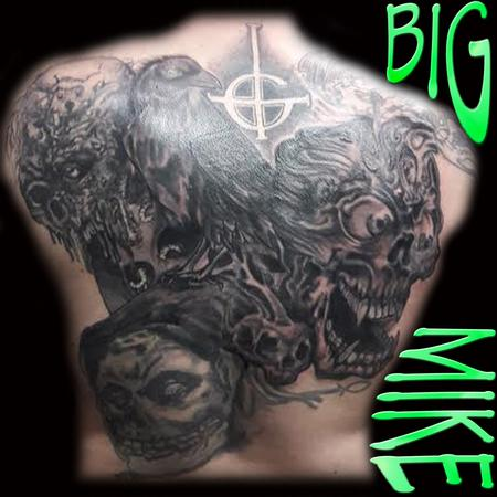 Tattoos - Custom Designed Back Piece - 130871
