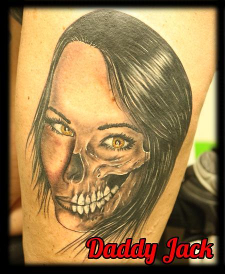 Tattoos - morph_skull_fsce_portrsit_tattoobyJack - 132647