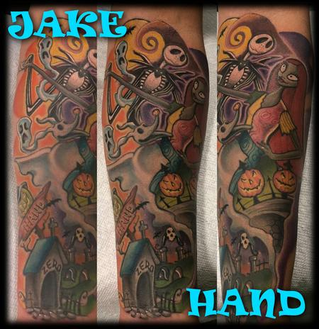 Tattoos - Nightmare Before Christmas JackandSally by JakeHand - 133710