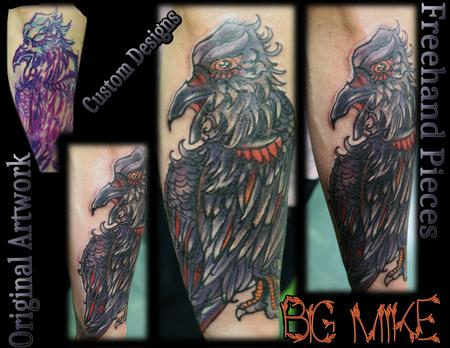 Tattoos - Custom Original Artwork-Raven - 131678