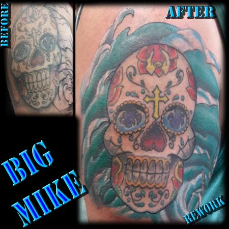 Tattoos - Reworked Sugar Skull - 130876