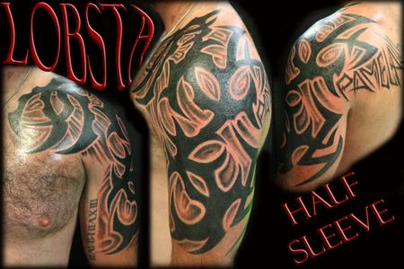 Tattoos - Custom Tribal Half Sleeve - 130458