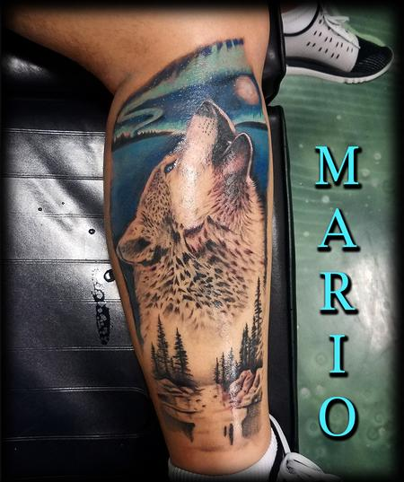 Tattoos - Wolf_forest_NorthernLights_ByMario - 133141